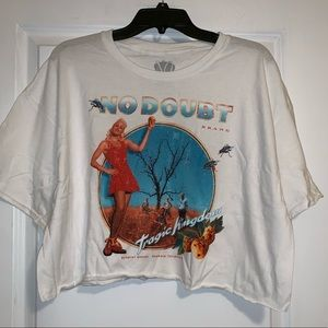 No Doubt cropped Tour shirt XL